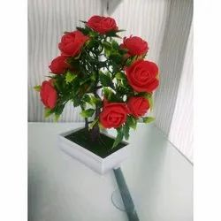 Plastic Rose Artificial Flower, Packaging Type: Box