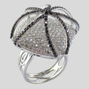 Wedding And Party Women's Fancy Diamond Ring