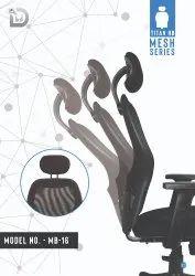 Diya Black Revolving Chair Component, For Back Support, Size: Medium
