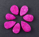 Sparkling Hot Pink Agate Druzy Loose Gemstone