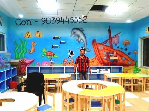 Kids School Wall Painting Ideas Play School Interior Design Ideas Service Provider From Indore
