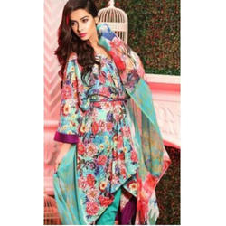Ladies Cotton Printed Suit, Size: S-XXL