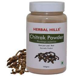 Natural Chitrak Mool Powder (Plumbago Zeylanica Root) - 100 Gms