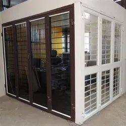 Aluminium And Glass Aluminum Folding Door, 8mm, Size/Dimension: 3-7ft