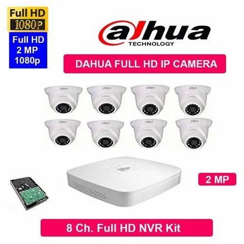Feecom Dahua Full Hd 2mp IP Cameras Combo Kit 8ch Hd Nvr   8 Dome Cameras2-Mp  1-Tb Hard Disc Combo