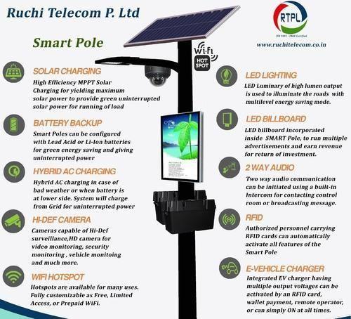 Solar Smart Pole Ruchi Telecom Private Limited