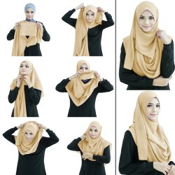 Stitched 2 Loop Instant Hijab Scarf For Women