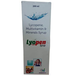 Food Grade Lycopene Syrup, Multivitamin, Multi Mineral Syrup