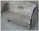 Grey Antique Drum Sofa, Size: Standard
