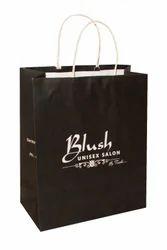 Black Craft Paper Printed Paper Bag, For Shopping, Capacity: 4 Kg