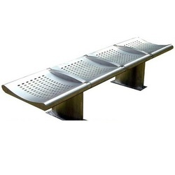 4 Seater Stainless Steel Bench