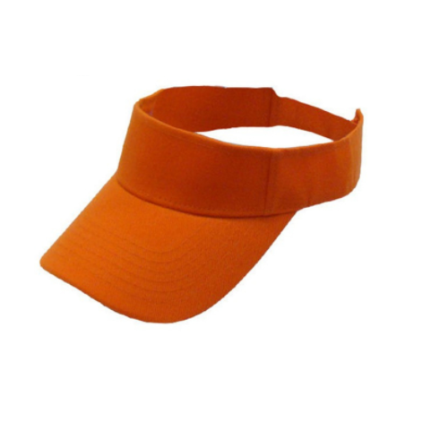 73a3060f59bec5 Orange Cotton Sun Visor Caps, Size: 7 Cm, Rs 32 /piece, Goldway Cap ...
