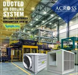 Automatic Mild Steel Symphony Central Air Cooling System, For Industrial Use
