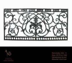 Victorian Vintage Cast Iron Grill, 64 Kg, Size: 75 X 150 ( H X L ) Cm