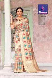 Maryam Silk By Shangrila Weaving Zari Silk Festival Wear Saree Designs 2020 Collection