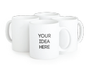 Sublimation Printing Plain White Ceramic Coffee Mugs with Handle