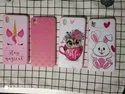 Plastic Samsung Mobile Cover Pink