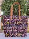 Ladies Printed Cotton Tote Bag