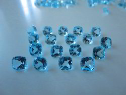 Sky Blue Topaz Cushion 8x8 Mm