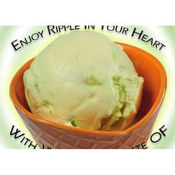 Pistachio Flavored Ice Cream, Packaging Type: Bowl, for Home Purpose