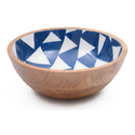 Natural Fibres Export Mango Wood Wooden Round Extra Large Soup Bowl