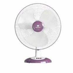 Havells Electricity Swing LX HS White And Purple Table Fan, 400 Mm