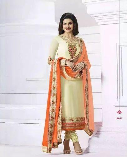 3f4a94d77e SEMI STITCHED Bridal Wear Vinay Prachi Queen Georgette Suits, Rs ...