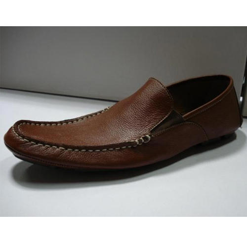 Men's Leather Loafer Shoes Maroon