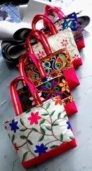 Red Pink Purple Green Cotton Pooja Bags