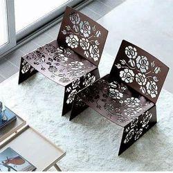 Brown Mild Steel Designer Restaurant Chairs, Height: 2.5 Feet