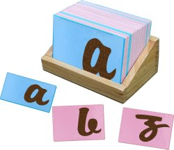 Montessori Sand Paper Cursive Writing English Alphabets