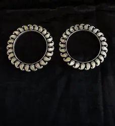Casual Oxidized Silver Antique Kolhapuri Bangles