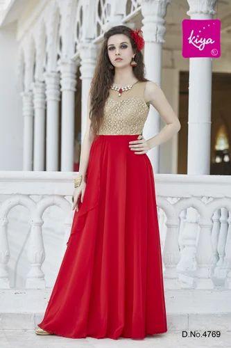 b9a1749412 Western Medium Red Hot Ladies Designer Gown