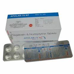 75 Mg Pregabalin & Nortriptyline Tablets, For Hospital, Packaging Type: Box