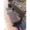 RCC Garden Wood Finish Bench