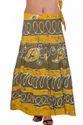 Batik Print Wrap Skirt