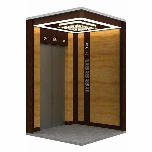 Exceptionnel Stainless Steel And Mild Steel Double Door Home Elevator