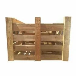 Rectangular Rubber Wood Wooden Crate Box, For Packaging