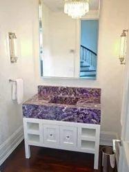 Amethyst Bathroom Counter
