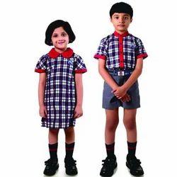 Checks Cotton Kids School Uniform