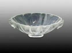 Vinay & Sons Transparent Round Crystal Bowl