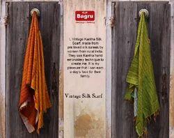 Vintage Hand Stitched Silk Stole