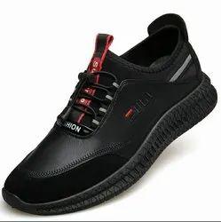 Casual Black Men Woven Shoes, Size: 6*10