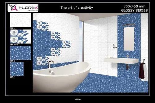 Florex Gloss 12x18 Digital Bathroom Wall Tiles, 6 ...
