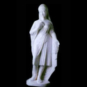 White Marble Standing Lady Statue