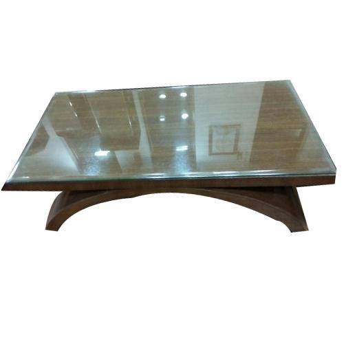 Rectangular Wood Glass Top Coffee Table Rs 8500 Piece Shreeji