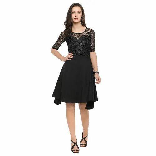 Dl Fashion Net Designer Short Dresses Half Sleeve Rs 250 Piece Id 21505294988