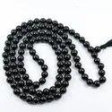 Gemstone Unisex Black Onyx Mala Bead, Shape: Round