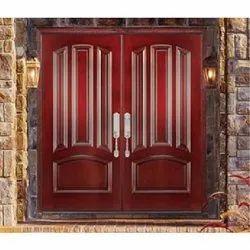 Hinged Exterior Teak Wood Double Door