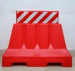 PVC Orange Plastic Road Barrier